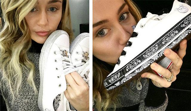 Miley Cyrus 率先曝光与 CONVERSE 的最新联名鞋款