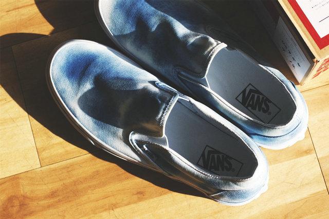 Vans 发布别注 Slip-on 蓝染鞋款——KYOSOU Clothing 谨制之作!