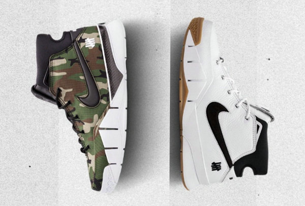 UNDEFEATED x 科比联名Zoom Kobe 1 Protro黑白、绿迷彩两色鞋款首曝光