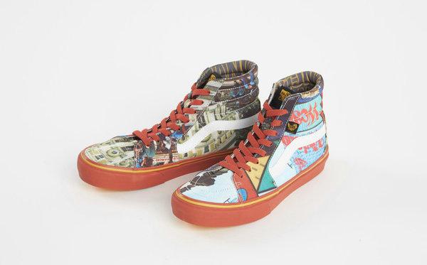 英国Vivienne Westwood Anglomania联名Vans推出双色Sk8-Hi鞋款