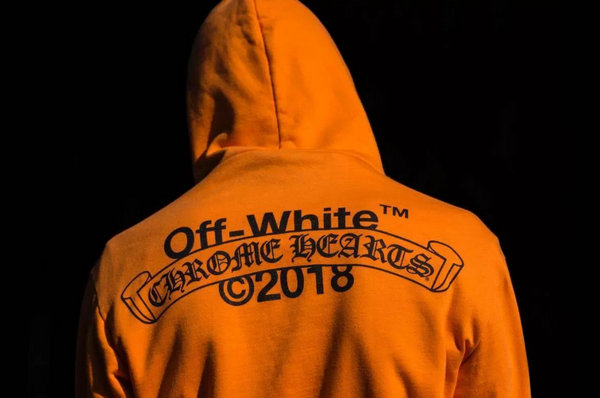 OFF-WHITE x Chrome Hearts克罗心全新联名帽衫开售