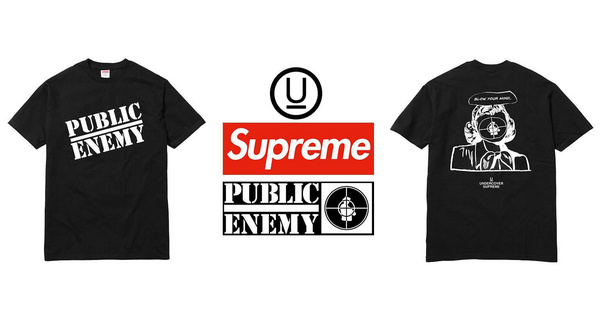 隐藏款?Supreme x UNDERCOVER x Public Enemy三方联名T恤曝光