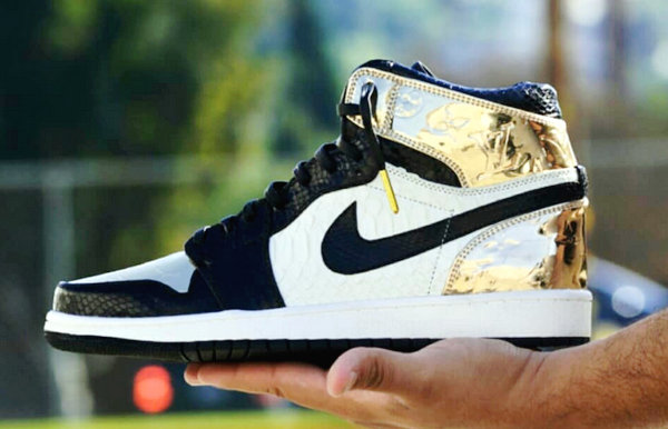 LV Logo 的金箔版 Air Jordan 1 鞋款你可见过?一起近赏