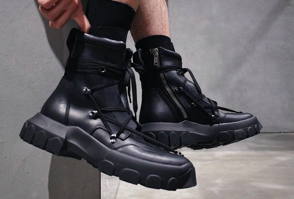 Rick Owens 2018全新鞋款Lace-Up Hiking Boots谍照释出