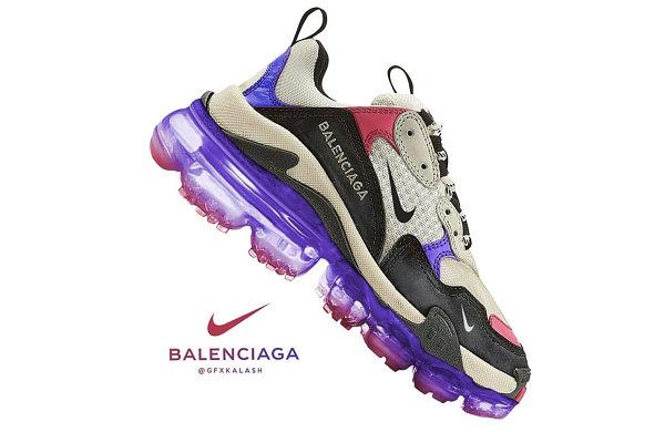 巴黎世家 Triple S x Nike 客制鞋款释出,你会为其买单吗?