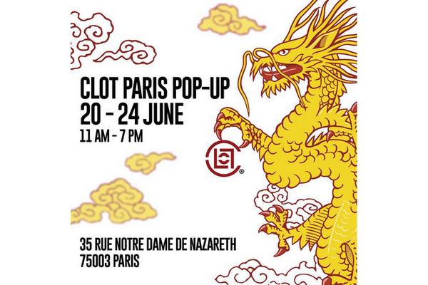 Pop-Up?陈冠希CLOT将在巴黎开设快闪店!