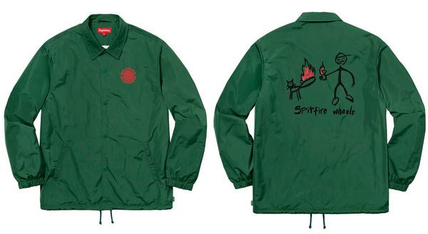 滑板迷们的福音!Supreme x Spitfire正式推出2018SS联乘服饰系列