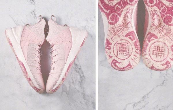 李宁溯系列鞋款本月即将发售,凤舞粉+水晶大底亮眼十足!