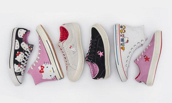 Hello Kitty 携手 CONVERSE 打造最新联名系列鞋款,爱心直冒~