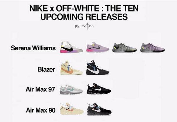 赶紧收藏,Virgil Abloh x Nike 联乘鞋款预览!