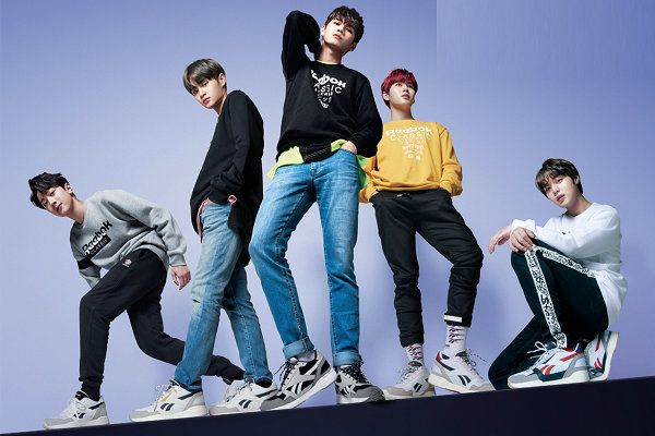 锐步 Royal Bridge 2.0 鞋款焕新上市,Wanna One 亲身演绎