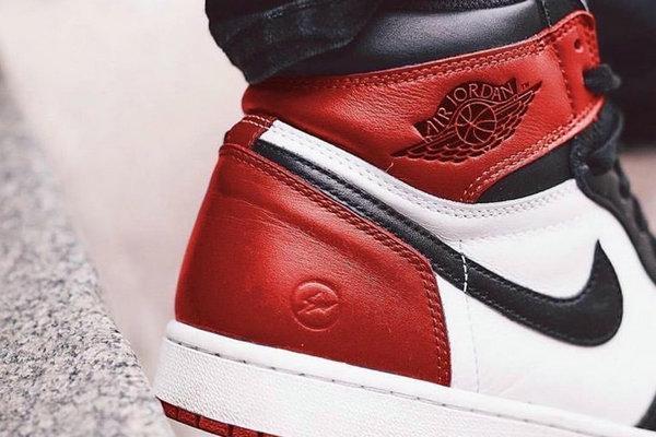 """fragment design x Air Jordan 1 联名鞋款""""red""""配色有望明年发售"""