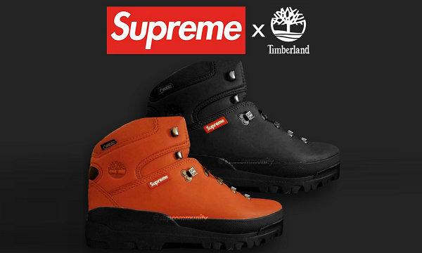 Supreme x Timberland 2018 秋冬联名系列鞋款率先祭出~