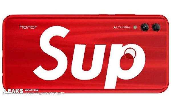 Supreme 与华为联名?红白配色款荣耀 10 Lite 谍照曝光