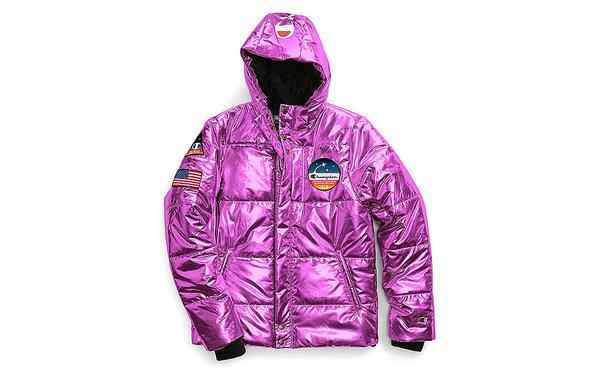 Champion x NASA 联名金属色系羽绒外套上架发售~