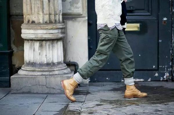 工装鞋搭配指南,潮流型男这样穿工装靴更帅气!