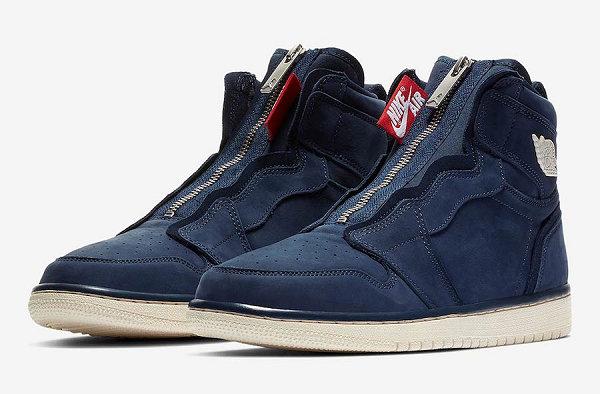 女生专属!Nike Air Jordan 1 High Zip 鞋款藏蓝色版本亮相~