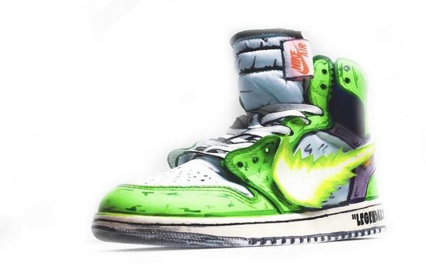 龙珠系列再袭!Off-White x Air Jordan 1 客制鞋款全新配色释出!