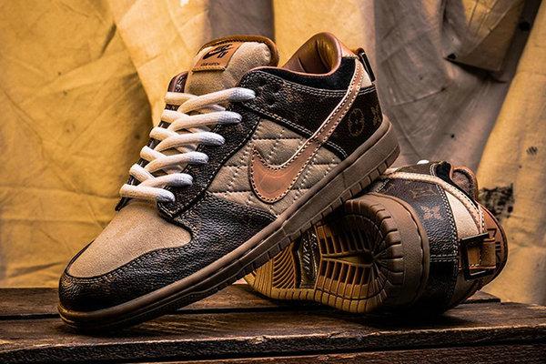 LV x Dunk SB Low 全新联名定制鞋款释出,这是艺术品么?
