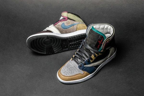 """""""倒钩""""Air Jordan 1 鞋款全新定制版本释出,The Shoe Surgeon 再现神作"""
