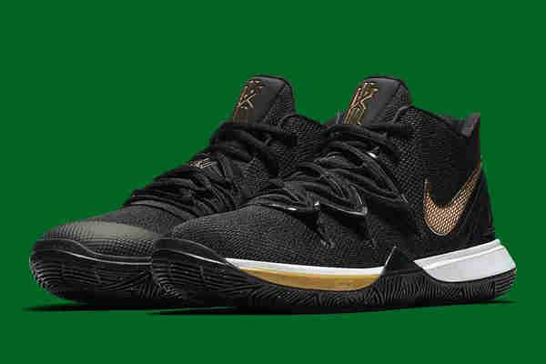 Nike Kyrie 5 鞋款全新黑金配色释出,黑金闪耀~