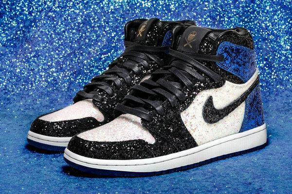 藤原浩闪电 x Air Jordan 1联名鞋款碎钻版曝光,这双客制有点壕!