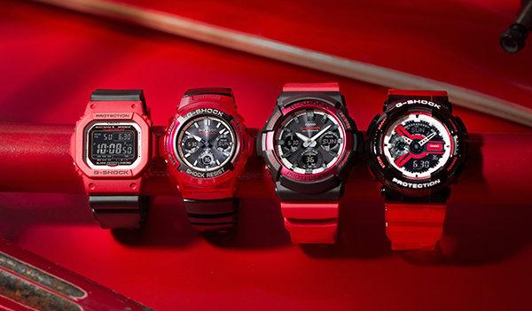 casio G-SHOCK 硬碰硬系列运动手表开售,红黑撞色风暴