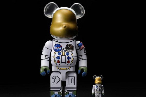 MEDICOM TOY x NASA 2019 联名宇航员 BE@RBRICK 玩偶上架