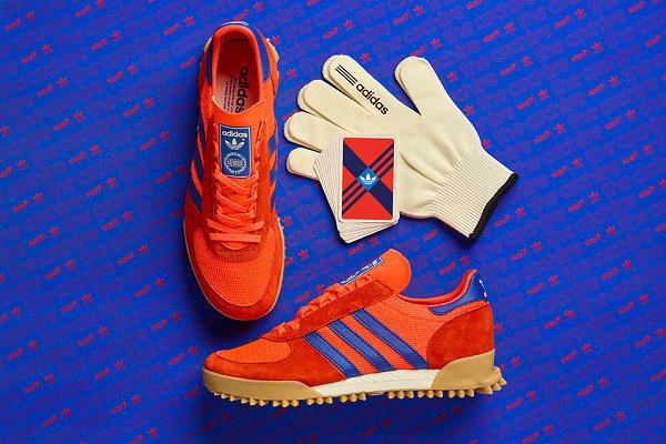 阿迪达斯 x SIZE? 2019 联名 Marathon TR 鞋款蓝橙配色来袭