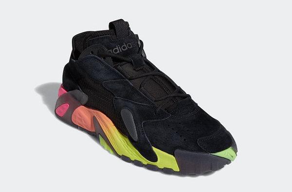 adidas STREETBALL 鞋款粉橙 & 荧光绿渐变中底配色即将发售