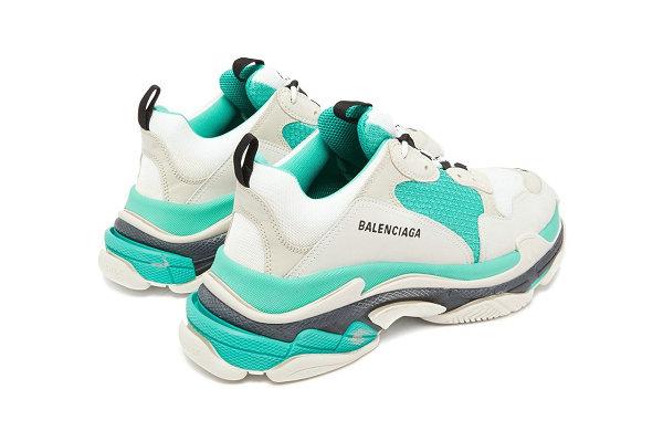 """巴黎世家 Triple S 鞋款""""Turquoise""""绿松石配色-3.jpg"""