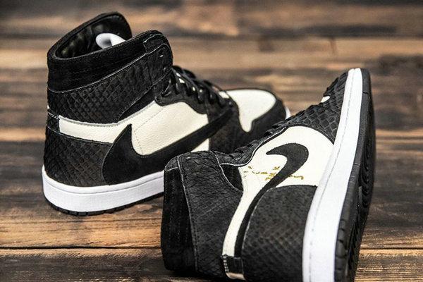 Air Jordan 1 鞋款全新木炭黑反钩定制版本上架发售,奢华与狂野