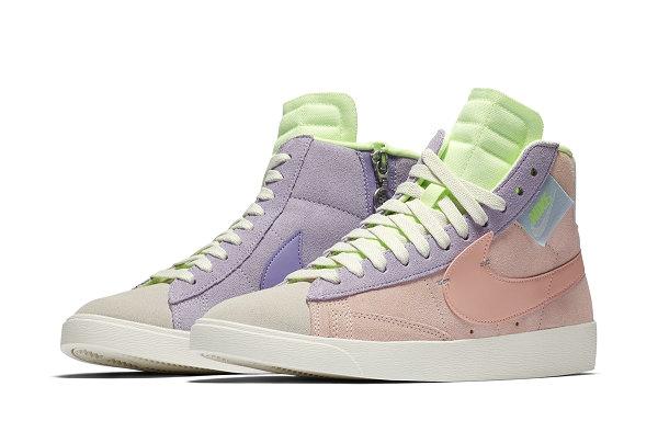 耐克 Blazer Mid Rebel 鞋款女生专属粉紫&紫绿配色一同登场