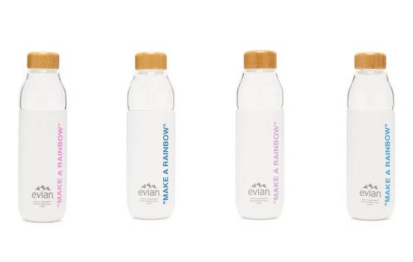 Virgil Abloh x Evian x Soma 三方联名全新配色玻璃水瓶发售~