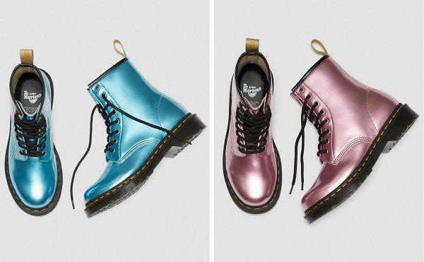 马丁博士 1460 Vegan 鞋款粉&蓝甜美配色上线,专为素食者打造