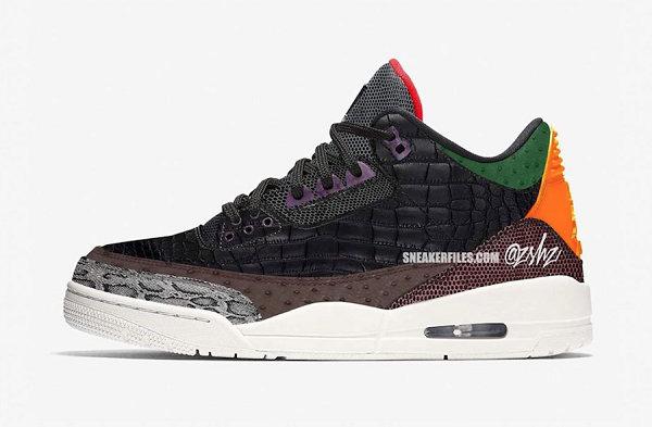 "Air Jordan 3 鞋款""Animal Print""配色最新渲染图曝光"