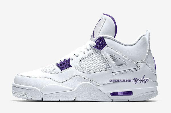 "Air Jordan 4 鞋款""Court Purple""白紫配色-1.jpg"