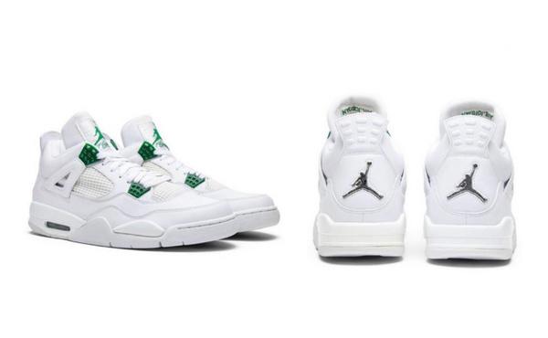 Air Jordan 4 白绿配色鞋款.jpg