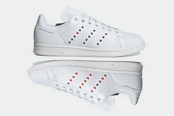 """阿迪达斯 Stan Smith 鞋款全新""""Heart Stripe""""配色即将来袭"""
