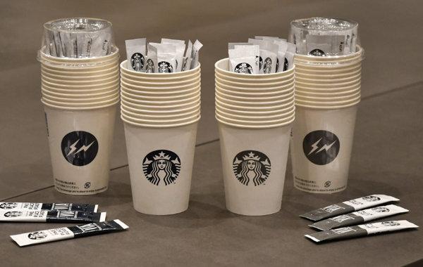 fragment design x 星巴克秋冬联名咖啡套组发售,小闪电可爱