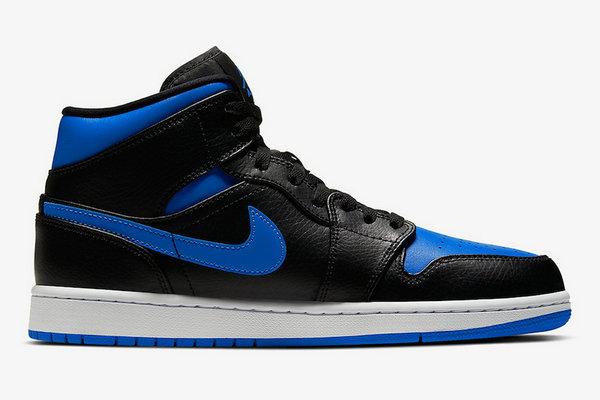 Air Jordan 1 Mid 鞋款经典皇家蓝配色官图赏析