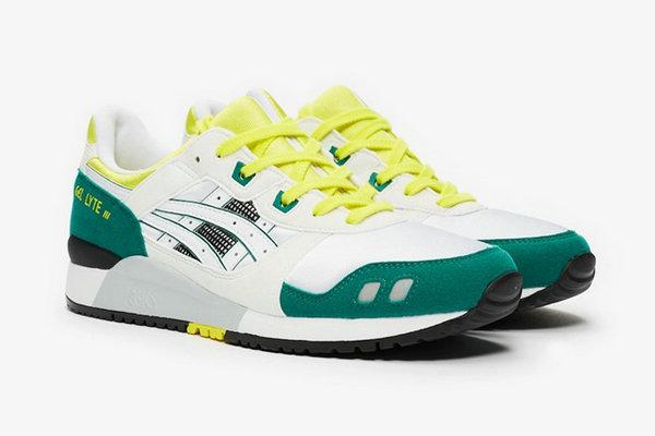 亚瑟士 Gel Lyte III 鞋款全新黄/白/绿 OG 配色即将来袭