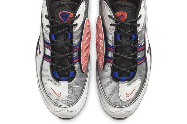 Air Max 98 鞋款全新猛龙配色释出,蓝红双色点缀~