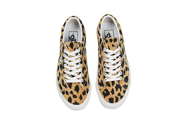范斯 x BILLY'S 联名卡其棕豹纹配色 SID-DX 鞋款预览