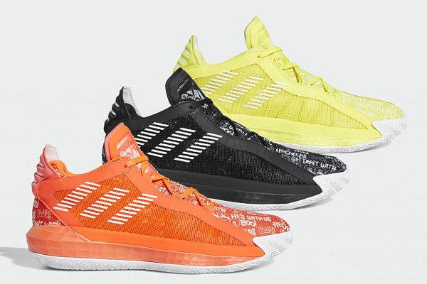 利拉德全新签名鞋 Dame 6 三色齐发,黑、橙、黄你选哪个?