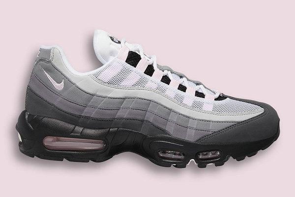 """Air Max 95 黑粉渐变配色""""Soft Pink""""鞋款发布,轻柔既视感"""