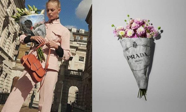 Prada X 全球 7 间花店合作推出限定花纸,时尚结合花艺