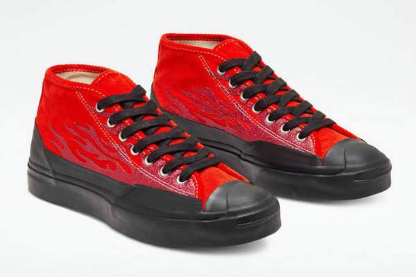 匡威 x A$AP Nast 联名鞋款全新红色版本释出,炫酷火焰