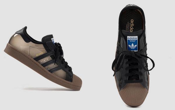 Blondey Mccoy x adidas Originals 联乘 Superstar 黑色透明鞋款开售~