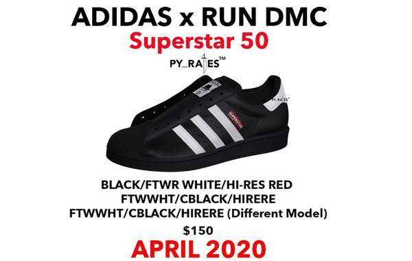 Run D.M.C x adidas Superstar 联乘 50 周年鞋款复刻回归~
